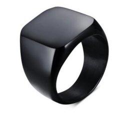 Acciaio Inox Black Square Jewelry Men Ring