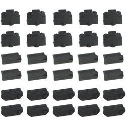 USB della gomma del nero della protezione della polvere del coperchio Port del USB del silicone l'anti un tipo anti protezione femminile della copertura antipolvere tappa il coperchio del tappo
