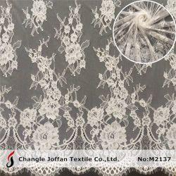 Merletto francese di Chantilly del ciglio del voile del vestito da cerimonia nuziale del tessuto svizzero del merletto (M2137)