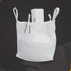 Grand sac de 1 tonne pour le sable et pierre avec couvercle supérieur du tube circulaire Haut de la goulotte de décharge FIBC bas ton sac 1 tonne Sac de sable