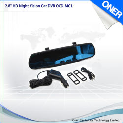 Visão nocturna de alta definição Carro Espelho Retrovisor DVR Gravador de vídeo da câmera