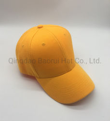 Le jaune de la promotion de l'acrylique Baseball Sports Caps Hat vierge