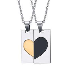 Fashion Lovers Hangers Roestvrij Staal Jewelry Set Voor Paren