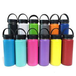 Garrafa de água para garrafa hidro - aço inoxidável e isolamento a vácuo - boca larga com tampa de palha -