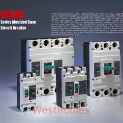 Disjuntor de vácuo de caixa moldada com 50Hz electromagnética 800V alta quebrando 2/3/4 pólos (GCG1) MCCB