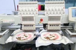 Bester Hauptverkauf zwei für Schutzkappe und flache Stickerei-Maschinen-Textilstickerei-Maschine Wy902/Wy1202