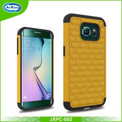 Téléphone cellulaire Accesoires PC Diamond Housse en silicone pour Samsung Galaxy S6 Bord