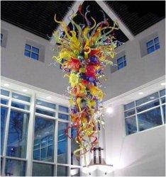 Lâmpada pendente em vidro colorido