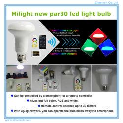 Lâmpada LED 220V PAR30 Reóstato RGBW luminoso