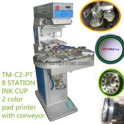 Macchina della stampante del rilievo del carosello di stampa della superficie curva di due colori