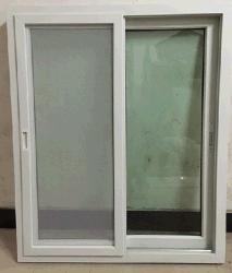 UPVC/PVC Cristal deslizante con pantalla de red con la empuñadura (ZXJH0008)