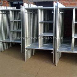 42x1.8mm galvanisé l'échelle de la construction châssis en H d'échafaudages fabriqués en Chine