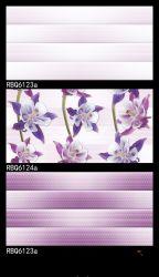 Die Blume glasig-glänzende keramische wasserdichte Wand-Fliese verzieren