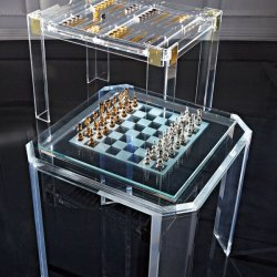 Acryl kleine heldere moderne en elegante rechthoekige koffietafel