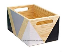 A forma geométrica Engradado de madeira Tampografia Visor de artesanato em madeira de mesa