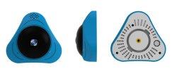 Toesee 360 Grad WeitwinkelFisheye panoramischer Kamera IP-Vr video Kamerarecorder-blaue Gehäuse CCTV-Kamera der IR-Nachtsicht-HD