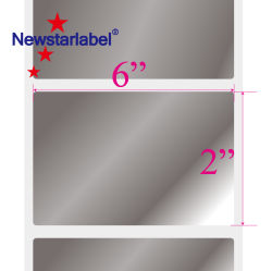 Водонепроницаемый матовый серебристый ПЭТ/клейкой хлорвиниловой наклейки штрих-кодов, передачу тепла полиэстер глянцевой печати этикеток