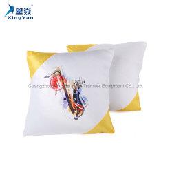 Bricolaje de color en diagonal de la impresión por sublimación de color blanco Funda de almohada blanco funda de cojín poliéster