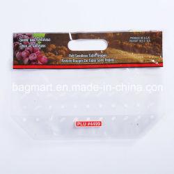 Commestibile, sacchetto personalizzato dell'uva di disegno, sacchetto di memoria della guarnizione della chiusura lampo