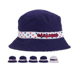 قبعة جرافة من القطن الأبيض والأرجواني غير رسمية