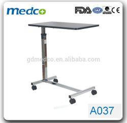 의료용 기기 회전 캐스터 침대 오버베드 테이블