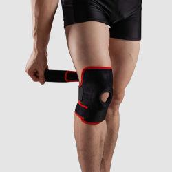 O esteio de joelho ajustável suporte de joelho Joelho Protecção de segurança de esportes da manga de protecção em neopreno