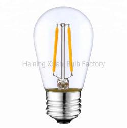 UL /ETL для использования вне помещений декоративного освещения пластмассовую крышку 2200K, 2800K 110V 130V 220V 240V 1W 2W S14 светодиодные лампы накаливания, S14 Рождество лампа