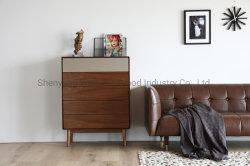 豪華な木製家具ソリッドウッドベニア塗装サイドテーブルベッドルーム 家具コーヒーテーブルリビングルームキャビネットモダンデザインビッグストレージ テーブルの横にあるナイトスタンド