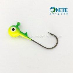 전형적인 10PCS-Pack Round Ball Lead Jig Hook Metal Fishing 지그