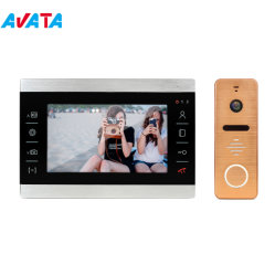 Motion Detection를 가진 4 철사 7inch Video Door Phone Intercom System Domofon