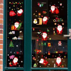 산타클로스 크리스마스 선물 스티커 벽 스티커 벽걸이 스티커