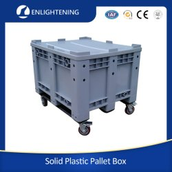 1200X1000X760مم 660L تخزين كبير للتخزين الكبير في المخزن الكبير عالي الكثافة (HDPE) للخدمة الشاقة غير حوض بلاستيكي محكم الغلق ذو جدران صلبة ومغلق من Hygiene يمكن تكيفيه للأجزاء التلقائية