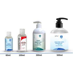 Pele OEM gel desinfectante líquido antibacteriano 75% álcool Higienizador Esquerdo
