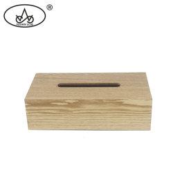 Con la artesanía de madera cubierta de la servilleta de verificación ecológica