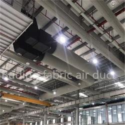 Condotto d'aria in tessuto utilizzato in luoghi con fuoco aperto