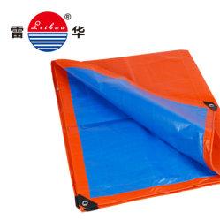 Blauw plastic waterbestendig canvas afdekvel Wit/Blauw Kleur Heavy Duty Fabrikant van PE-dekzeil