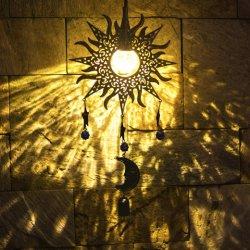 Сад солнечного освещения декоративных- висящих солнечного света для использования вне помещений металлические сад во дворе декор ветер мелодия, на базе водонепроницаемый теплый белый светодиод путь мира для Walkw стекла