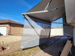 Hot Sale RV Camper auvent caravane Salle d'ébarbage RV tente remorque caravane porche auvent côté tente RV