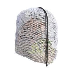 Foldable 졸라매는 끈 민감한을%s 참을성 있는 세탁물 부대 면 Cag 메시