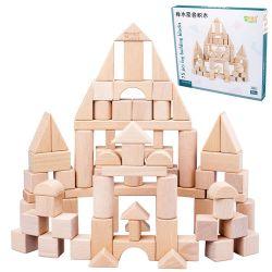 中国のサンプルセットされる教育木の赤ん坊のブロックのおもちゃ