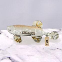 운이 좋은 수영 물고기 모양 브랜디를 위한 높은 붕규산 유리 병