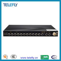 M12 el pleno de la Capa 3 Gigabit Ethernet industrial de montaje en rack de red de fibra de interruptor el interruptor para Wailway