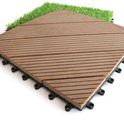 スタイル選択木製フローリングタイル、割れにくい DIY スタイルのモルデン /WPC デッキタイル床