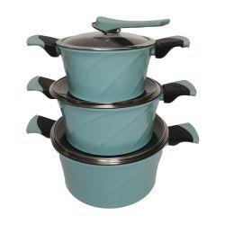 6 ПК синий цвет посуда с покрытием Heat-Resistant