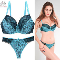 Nieuwe Lace Sexy BH Set Push Up Seamless Borduurbralette Lingerie Plus Size transparant Ondergoed voor dames