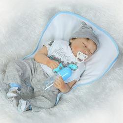 La bamboletta reale realistica del bambino di sonno delle bambole del ragazzo 22inch del vinile della bambola molle rinata del silicone il mio Dino rifornisce del regalo sveglio dei giocattoli del bambino di 55cm impostato per le età 3+