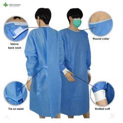 매일 사용이 오오 5003r 고품질을 가운을 입는 목 뒤 가운 가운에 있는 처분할 수 있는 벨크로는 널리 가운을 쓴다