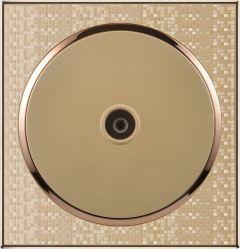 Золото для утопленного монтажа антенны телевизора на стену розетки электросети