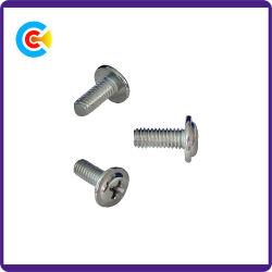 GB/DIN/JIS/ANSI Carbon-Steel/RVS 4.8/8.8/10.9 gegalvaniseerde gekruiste kop met schroeven