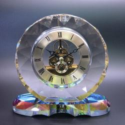 Верхний класс украсить часы Crystal овальной формы регистрации часы
